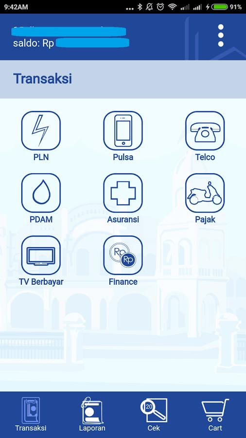 dashboard griya bayar mobile aplikasi